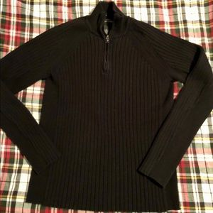 Men's INC Size M Ribbed QTR Zip Cotton Sweater